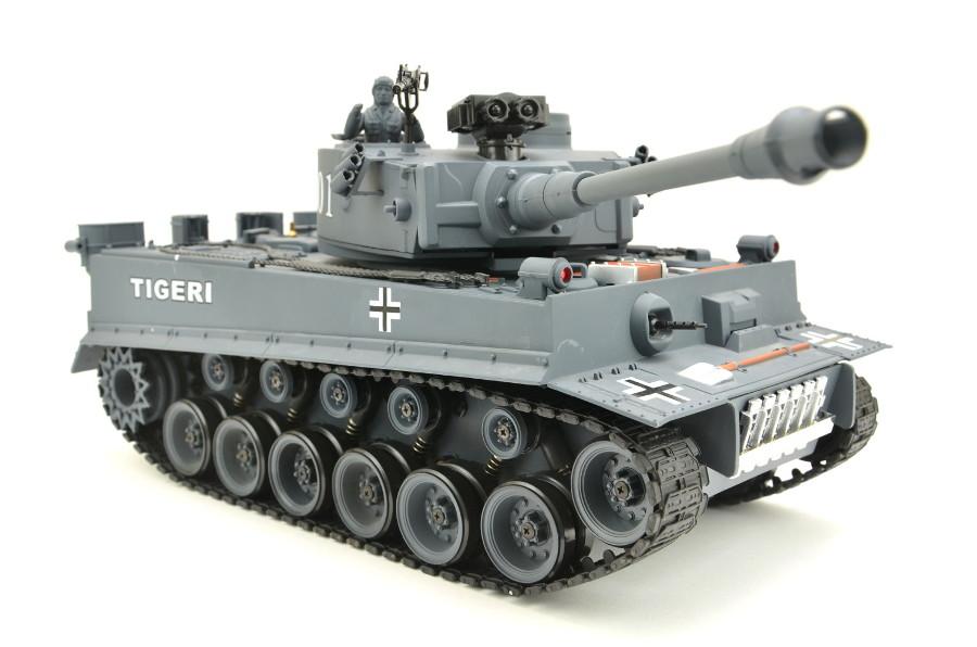 rc panzer rc panzer german tiger i grau 1 20 mit schuss. Black Bedroom Furniture Sets. Home Design Ideas