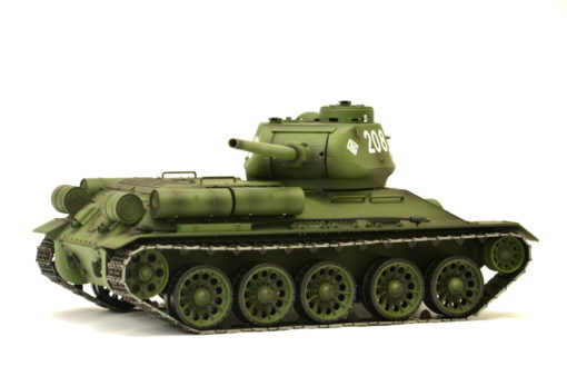 rc panzer heng long russich t34 85 metall rauch 24ghz 12 1