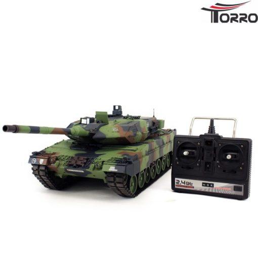rc panzer shop 1 16 leopard 2a6 metallgetriebe torro 2