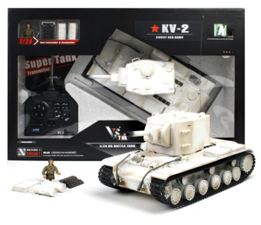 rc panzer vstank pro kv2 wintertarn ir schussfunktion 11