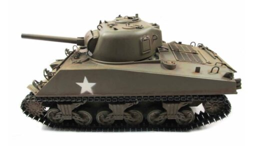 RC Panzer Amewi Metall m4a3 sherman green 002